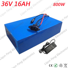 36v lithium ion battery online shopping - Electric Bicycle Battery V AH W PVC Case with V A Charger Built in A BMS Lithium ion Battery V