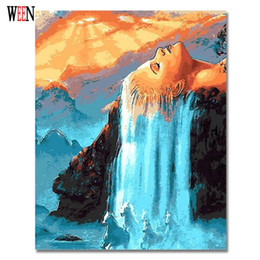 $enCountryForm.capitalKeyWord Australia - oloring pictures WEEN Hair Waterfall Picture By Numbers On Wall Acrylic Canvas Painting Drawing DIY Coloring By Numbers For Living Room G...