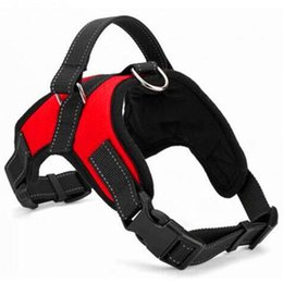 Wholesale Adjustable Nylon No Pull Dog Harness Vest For Big Dog Harness Large Dog Leash XL Medium Pet Supplies Vest Pet Collar Accessories