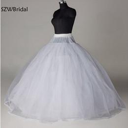 $enCountryForm.capitalKeyWord Australia - New Arrival White 8 Layer Tulle without Hoops Wedding dress Petticoat Jupon mariage Underskirt halloween wedding