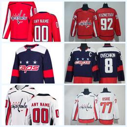 Man Woman Youth Washington Capitals Hockey 20 Lars Eller Jersey 74 John  Carlson 44 Brooks Orpik Dmitry Orlov Custom Any Name Red White Blue bb780e80e