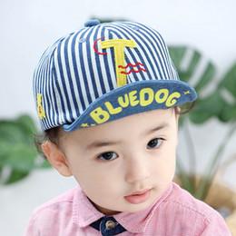 8a5a0549 2019 new Baby Hat Baby Boy Hats stripe letter boys Baseball Hat Toddler Sun  Hat Infant Boys Caps peaked cap Baseball caps A4155