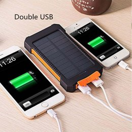 Mobile External Charges NZ - 20000mah Solar Charge PoverBank Battery External Powerbank Power USB Universal Charger Mobile Phone Power for Xiaomi