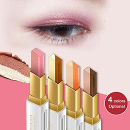 $enCountryForm.capitalKeyWord Australia - Waterproof Double Color Eyeshadow Stick Stereo Shimmer Color Eye Shadow Cream Pen Eye Makeup Palette Cosmetics 2801082