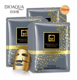 $enCountryForm.capitalKeyWord NZ - BIOAQUA Black Gold Face Mask Moisturizing Oil Control Blackhead Remover Sheet Bubble Wrapped Mask Collagen Gold Facial Mask Skin Care
