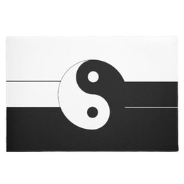 welcome mats doormat 2019 - Modern Classic Yin Yang Door Mat for Living Room Black White Oriental Rug Carpet Traditional Asian Welcome Doormat Home