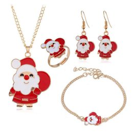 indian finger bracelets 2020 - Vintage Retro Fashion Accessories Jewelry Sets Santa Claus Earrings Christmas Pendant Chain Necklaces Charm Bracelets Fi