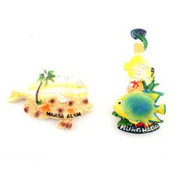 $enCountryForm.capitalKeyWord Australia - Creative 3D Fish Shape Hurghada Fridge Magnet Souvenir For Small Gift World Trip Refrigerator Magentic Stickers Home Decor