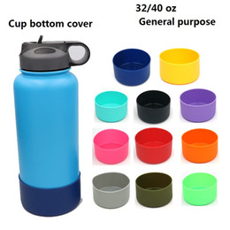 Discount pets vacuum - Water Bottle Silicone Sleeve Cover Soft Silicone Flask Wide Mouth Vacuum Water Bottle Bottom Cover Travel Pet Bowl for D