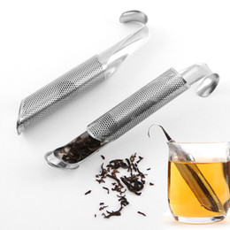 Ingrosso Tè dell'acciaio inossidabile infusore sani Setacci tè infuser Hanging Style Holder Tea filtro Strumenti di Cup cucchiaino infusore Filtro BH2463 TQQ