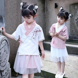 $enCountryForm.capitalKeyWord Australia - Girls Hanfu national wind improved Tang suit Chinese style children's costumes little girl suit baby skirt wholesale