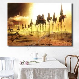 vintage art print canvas UK - Salvador Dali Surrealism Elephant Vintage HD Canvas Posters Prints Wall Art Painting Decorative Picture Modern Home Decoration