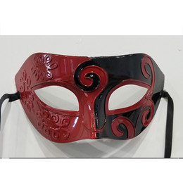 $enCountryForm.capitalKeyWord Australia - Halloween Ball Jazz Prince Half Face Flat Hard Plastic Carved Spray Paint Party Mask Plastic Prince Mask Play Accessories