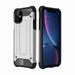wholesale phone jackets NZ - For iphone 11 mobile phone case diamond iron armor two-in-one iPhone 11 Pro Max protective jacket