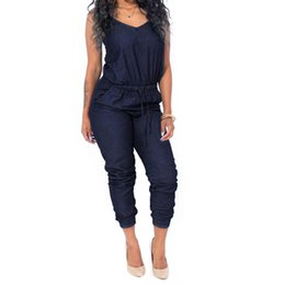 078c029a4ec4 2017 Women Denim Jumpsuits Sexy Sling Women One Piece Jumpsuit Pants Casual  Office OL Clothing Overalls for women  5