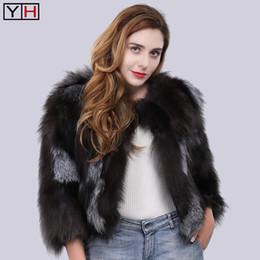 Wholesale women fur trench short coat resale online - 100 Natural Genuine Real Silver Fur Coat Luxury Lady Real Fur Coat Winter Women Outerwear Coats Trench Overcoat