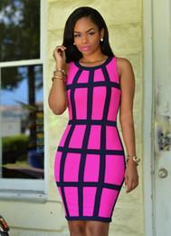 $enCountryForm.capitalKeyWord NZ - Women Dress High Waist Sleeveless Tight Nightclub Skirt Print Plaid Clothes Sexy Charming Summer Woman Flexibl Pencil Dresses Size S-XL