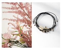 $enCountryForm.capitalKeyWord Australia - Woven Pearl Shell Bracelet Anklet Shell Beads Starfish Female Vintage Handmade Sandals Feet Jewelry 3 Piece Set