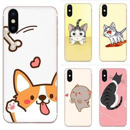 Coutume Kawaii Molang Anime chien chat de bande dessinée pour Samsung Galaxy Note 5 8 9 S3 S4 S5 S6 S7 S8 S9 S10 5G mini-bord Plus Lite mobile Cases