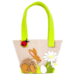 Luggage & Bags Handbag Flower Candy Storage Gift Decoration Cute Easter Bunny Egg Basket Rabbit Home Decor Kids Toy Party Supplies