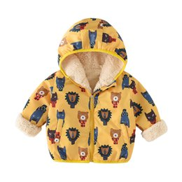 BaBy Boy velvet jacket online shopping - kids boys girls warm jacket hooded jacket plus velvet children s cotton coat autumn winter outwear infantil baby boy Clothing