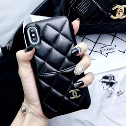 Free shipping For phone cases online shopping - One Piece luxury designer phone cases for iPhone plus PU Lather with Card slot Phone Cases Soft Back Cover