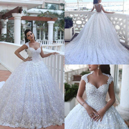 f36d52c0bb6 Said Mhamad Cathedral Train Luxury Wedding Dresses Crystal Beading Applique  Lace Wedding Gowns Ball Gowns Arabic Dubai Bridal Dress