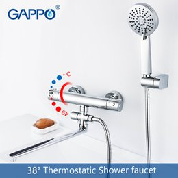 Brass water pipes online shopping - shower faucet bathroom thermostatic mixer tap bath shower mixer round Accessories water pipe m rain shower head SPA