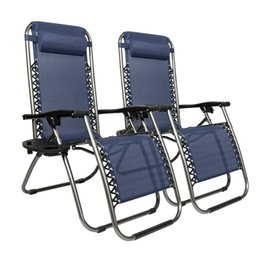 Set 2 Zero Gravity Klappstühle Salon Terrasse im Freien Recliner Beach Chair im Angebot