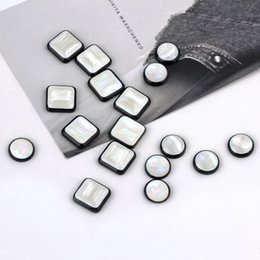 square resin earrings Australia - Min order 50pcs lot color round square shape resin beads charms diy jewelry earring garments pendants accessory