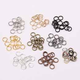 Open Connectors Australia - 200pcs lot Gold Silver Link Loop 4 5 6 8 10 mm Open Jump Rings for DIY Jewelry Making Rings Necklace Bracelet Findings Connector