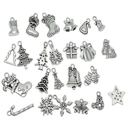 $enCountryForm.capitalKeyWord Australia - Urijk 24 44 50PCs Christmas Tree Decorations Silver Tone Christmas Hanging Charm Pendants Xmas Tree Stocking Snowflake Ornament