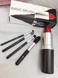 $enCountryForm.capitalKeyWord Australia - new Makeup Brand Look In A Box Basic Brush 4pcs set brushes set with Big Lipstick Shape Holder Makeup TOOLS good item