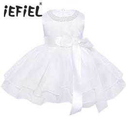 afeb17b62 Flower Baby Girls Wedding Dress For Kids 1 Year Birthday Dresses Baptism Newborn  Girls Clothing Infant Tutu Dress Child Clothes Y19050801