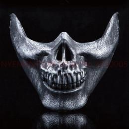 Paintball cs online shopping - 2015 New CS Skull Skeleton Paintball Half Face Protective Mask For Halloween Gift