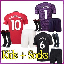 kids uniform shirts Canada - TOP 19 20 FC soccer jersey 2019 2020 Jerseys UTD UniTed POGBA LUKAKU RASHFORD ALEXIS MAN football shirt KIDS Kit boys uniforms Manchester