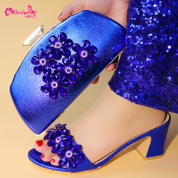 $enCountryForm.capitalKeyWord Australia - New Arrival Rhinestone Wedding Shoes and Bag Set for Women High Quality African Women Party Shoes with Bag Set Nigerian Shoes