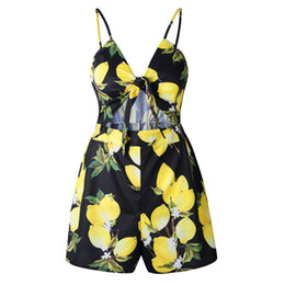 Sexy Jumpsuits For Women UK - Summer Womens Designer Shorts Casual Brand Pants with Floral Pattern for Women Fashion Contrast Color Women's Jumpsuits Sexy Criss-Cros