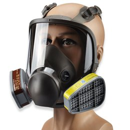 Painting Faces Australia - MF15 Full-Eyepiece Gas Mask Full Face Respirator Mask Organic Vapors Silicone Respirator Mask for Painting, Chemicals,Pesticide