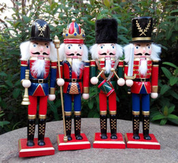 $enCountryForm.capitalKeyWord Australia - Wooden Crafts Christmas Nutcracker Puppet 4pc Set Christmas Decorations Birthday Gifts For Kids Girl Place Arts Free Shipping SN3319