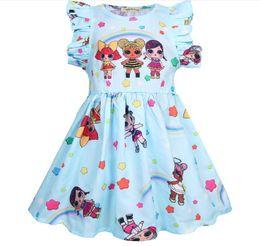 843f2f0fea3 ins vente chaude bébé filles filles robe nouvelle lol poupée été  anniversaire fête robe enfants montrent voler manches robes