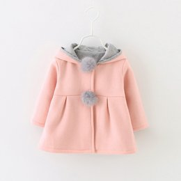 cartoon rabbit hoodies Canada - baby girl hoodie sweatshirt solid cartoon rabbit ears hooded coat for 6-48month girls newborn infant girl outerwear clothing