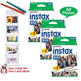 Fuji polaroid camera online shopping - Genuine Fujifilm Instax Wide Film Sheets White Photo For Fuji Instant Polaroid Photo Camera Free Gifts