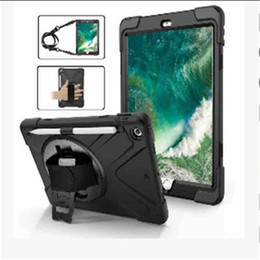 China Belt Bag Australia - Hybrid Shockproof Armor Holder with Shoulder Belt and Hand Strap for New iPad 9.7 2017 2018 Ipad pro 9.7 have Pen slot