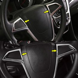 $enCountryForm.capitalKeyWord Australia - Chrome Steering Wheel Switch Button Panel Trim Cover Badge Insert For Buick Encore Opel Vauxhall Mokka X 2012 - 2016 2017 2018