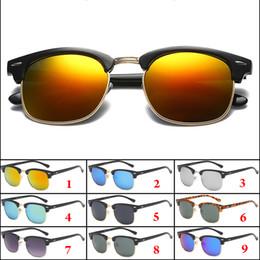 77cb0ea94a 9 Colores Hombres Mujeres Gafas de sol de montura completa Gafas de moda  Lente Ligero Ciclismo Gafas de sol Hombres Gafas Marca barata