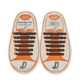 Shoe Laces Tie Australia - 12Pcs lot Unisex Children Kids Athletic Running No Tie Shoelaces Elastic Silicone Shoe Lace All Sneakers 10 Color Optional