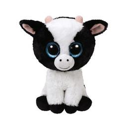 "$enCountryForm.capitalKeyWord NZ - Ty Beanie Boos 6"" 15cm Butter the Cow Plush Regular Soft Big-eyed Stuffed Animal Collectible Doll Toy"