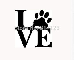 personalized word art UK - Love Paw Sticker Vinyl Car Window Decal Cute Animal Pet Dog Cat Wall Art