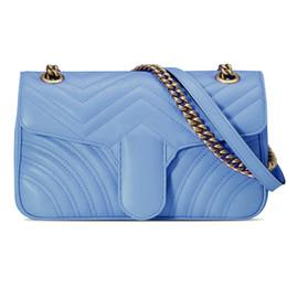 Blue Box Plain Australia - Designer Handbags bag Shoulder bags Plaid Chain bag Handbag Messenger purse with box handbags brands fashion bags Hot